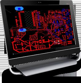 Circuit design in computer screen