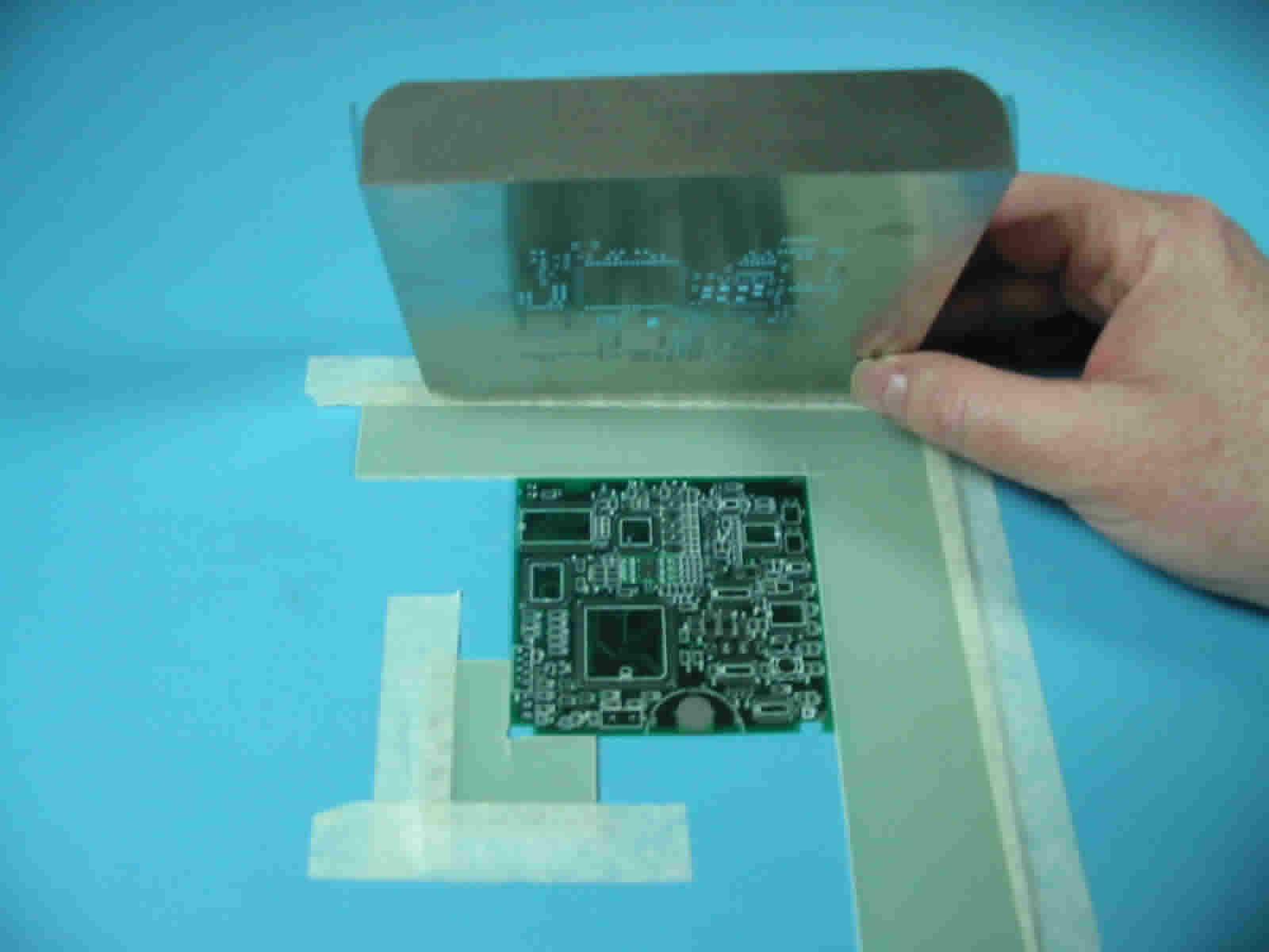 Set up your Prototype Laser Cut Solder Paste Stencil. Click to zoom.