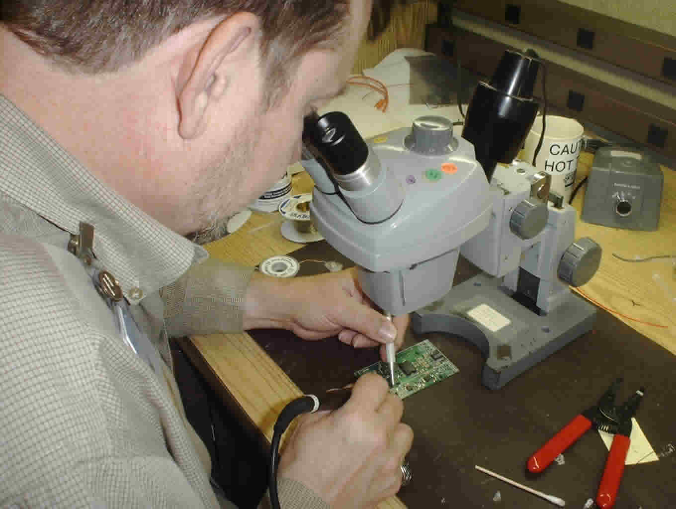 The hard way - Hand soldering.